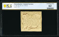 Colonial Notes:Massachusetts, Massachusetts October 16, 1778 4d PCGS Banknote Uncirculated 62.. ...