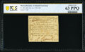 Massachusetts October 16, 1778 12d PCGS Banknote Choice Uncirculated 63 PPQ