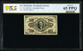 Fractional Currency:Third Issue, Fr. 1254 10¢ Third Issue PCGS Banknote Gem Unc 65 PPQ.. ...