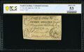 Colonial Notes:South Carolina, South Carolina April 10, 1778 15s PCGS Banknote About Unc 53.. ...