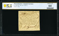Colonial Notes:Massachusetts, Massachusetts October 16, 1778 3s PCGS Banknote Choice Unc 64.. ...