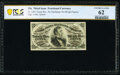 Fr. 1294 25¢ Third Issue PCGS Banknote Uncirculated 62