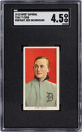Baseball Cards:Singles (Pre-1930), 1909-11 T206 Sweet Caporal Ty Cobb (Red Portrait) SGC VG/EX+ 4.5. ...