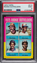 Baseball Cards:Singles (1970-Now), 1975 Topps Rookie Outfielders #616 PSA Mint 9....