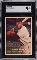 Baseball Cards:Singles (1950-1959), 1957 Topps Willie Mays #10 SGC Mint 9 - Pop Three, None Higher....