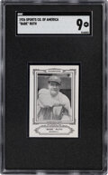 Baseball Cards:Singles (Pre-1930), 1926 Sports Co. of America Champions Babe Ruth (Nov., 1926) SGC Mint 9 - Pop Two, None Higher! ...