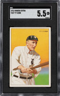 Baseball Cards:Singles (Pre-1930), 1912 T227 Miners Extra Ty Cobb SGC EX+ 5.5 - The Highest Graded SGC-Example! ...