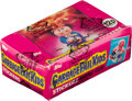 """Non-Sport Cards:Unopened Packs/Display Boxes, 1986 Topps """"Garbage Pail Kids"""" Sticker Series 1 (UK) Unopened Wax Box With 48 Packs. ..."""