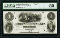 Cannelton, IN- Perry County Bank $1 Feb. 1, 1854 G2 Proof PMG About Uncirculated 55, POCs