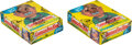 """Non-Sport Cards:Unopened Packs/Display Boxes, 1987-88 Topps """"Garbage Pail Kids"""" Stickers Series 12 Wax Box Pair (2).... (Total: 2 items)"""