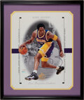 Basketball Collectibles:Photos, 1998-99 Kobe Bryant Signed Oversized SP Authentic UDA Display....