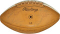 Football Collectibles:Balls, 1969 National Football League Pro Bowl Team Signed Football....