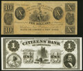 Obsoletes By State:Louisiana, New Orleans, LA- New Orleans Canal & Banking Company $10 18__ Remainder Extremely Fine;. (New Orleans), LA- Citizens'... (Total: 2 notes)