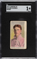 Baseball Cards:Singles (Pre-1930), 1910-11 M116 Sporting Life Amby McConnell (Chicago) SGC Poor 1. ...