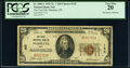 National Bank Notes:Ohio, Marietta, OH - $20 1929 Ty. 1 The First National Bank Ch. # 142 PCGS Very Fine 20.. ...