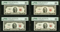 Small Size:Legal Tender Notes, Fr. 1509 $2 1953 Legal Tender Note. PMG Choice Uncirculated 64 EPQ;. Fr. 1510 $2 1953A Legal Tender Note. PMG Gem Uncircul... (Total: 4 notes)