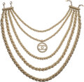 """Luxury Accessories:Accessories, Chanel Pearl & Gold Chain Layered Necklace. Condition: 1. 9"""" Width x 12"""" Height. ..."""