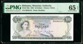 World Currency, Bahamas Monetary Authority 10 Dollars 1968 Pick 30a PMG Gem Uncirculated 65 EPQ.. ...