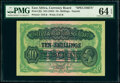 World Currency, East Africa East African Currency Board 10 Shillings ND (1933) Pick 21s Specimen PMG Choice Uncirculated 64 EPQ.. ...