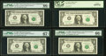 Fr. 1920-C $1 1993 Web Federal Reserve Note. PMG Gem Uncirculated 66 EPQ, block C-A, run 9 plate combo 1-9; Fr. 1925-L*...