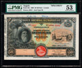 World Currency, Angola Banco Nacional Ultramarino 50 Mil Reis 1.3.1909 Pick 38s Specimen PMG About Uncirculated 53.. ...