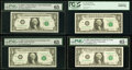 Fr. 1901-C $1 1963A Federal Reserve Note. PMG Gem Uncirculated 65 EPQ; Fr. 1903-J $1 1969 Federal Reserve Note. PMG Gem...