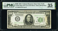 Fr. 2201-B $500 1934 Dark Green Seal Federal Reserve Note. PMG Choice Very Fine 35