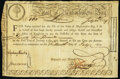 Colonial Notes:Massachusetts, Massachusetts 6% Treasury Certificate July 20, 1779 £75 Anderson MA-19 Fine-Very Fine 30, pen cancelled.. ...