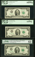 Fr. 1935-B* $2 1976 Federal Reserve Star Note. PCGS About New 50PPQ; Fr. 1935-G $2 1976 Federal Reserve Notes. PMG Choic...