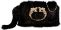"""Luxury Accessories:Bags, Gucci by Tom Ford Black Mink Fur Dragon Evening Clutch Bag. Condition: 2. 8"""" Width x 5"""" Height x 1.5"""" Depth. ..."""