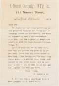 Political:Posters & Broadsides (pre-1896), Grover Cleveland et al: Equipment Broadsheet and Advertisi...