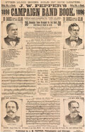 """Political:Small Paper (1896-present), William McKinley and William Jennings Bryan: 1896 Candidates """"Band Book"""". ..."""