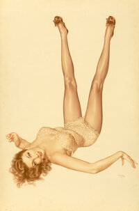 Alberto Vargas (Peruvian/American, 1896-1982) Mara Corday, True Girl, February 1952 Watercolor on bo