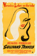 """Movie Posters:Comedy, Sullivan's Travels (Paramount, 1941). Very Fine- on Linen. One Sheet (27"""" X 41"""") Style B.. ..."""
