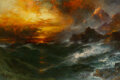 Paintings, Thomas Moran (American, 1837-1926). A Mountain of Loadstone—Arabian Nights, 1898. Oil on canvas. 20 x 30 inches (50.8 x ...