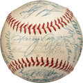Baseball Collectibles:Balls, 1954 Boston Red Sox Team Signed Baseball with Harry Agganis....