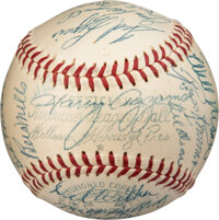 1954 Boston Red Sox Team Signed Baseball with Harry Agganis