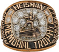Football Collectibles:Others, 1943 Heisman Trophy Winner's Ring Presented to Angelo Bertelli from the Bertelli Family....