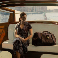 Iain Faulkner (b. 1973) Leaving Venice Oil on canvas 36 x 36 inches (91.4 x 91.4 cm) Initialed
