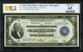 Fr. 772 $2 1918 Federal Reserve Bank Note PCGS Banknote Choice Unc 63 Details