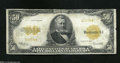 Large Size:Gold Certificates, Fr. 1200a $50 1922 Gold Certificate Very Good. Not a thing ...