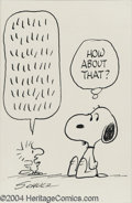 """Original Comic Art:Splash Pages, Charles Schulz - Peanuts """"Woodstock Babble"""" Snoopy Original Art(undated). The key to a good newspaper comic strip is in the..."""
