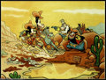 """Original Comic Art:Paintings, Floyd Gottfredson - Mickey Mouse Western Painting """"Race for Riches"""" (No Publisher, 1980). This magnificent and famous painti..."""