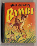 Golden Age (1938-1955):Cartoon Character, Bambi (Walt Disney's) Better Little Book #1469 (Whitman, 1942)Condition: NM. Bambi and Thumper are sitting pretty on this c...