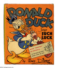 Golden Age (1938-1955):Cartoon Character, Donald Duck Says Such Luck Better Little Book #1434 (Whitman, 1939)Condition: NM. The Old Duck never looked better than he ...