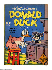 Donald Duck Takes it on the Chin Fast Action #8 (Whitman, 1941) Condition: NM-. That Donald Duck, he always has things r...