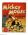 Platinum Age (1897-1937):Miscellaneous, Mickey Mouse in Blaggard Castle Big Little Book #726 (Whitman, 1934) Condition: VF/NM. A very early Big Little Book featurin...