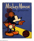 Platinum Age (1897-1937):Miscellaneous, Mickey Mouse the Detective Big Little Book #1139 (Whitman, 1934)Condition: VF/NM. Mickey points out the way to go on the co...