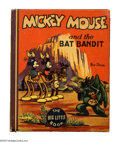 Platinum Age (1897-1937):Miscellaneous, Mickey Mouse and the Bat Bandit Big Little Book #1153 (Whitman,1935) Condition: NM-. Here we go with another unread Mickey ...