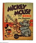 Platinum Age (1897-1937):Miscellaneous, Mickey Mouse and Bobo the Elephant Big Little Book #1160 (Whitman, 1935) Condition: NM. Mickey gets the music flowing courte...